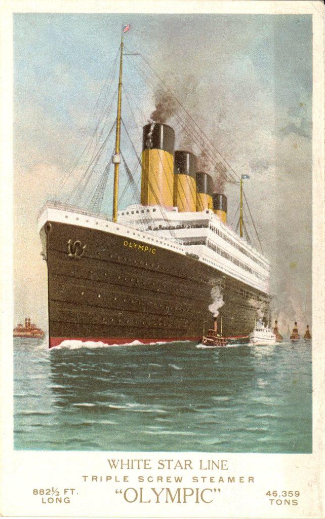 white Olympic sa zrazil s krížnikom britského námorníctva HMS Hawke
