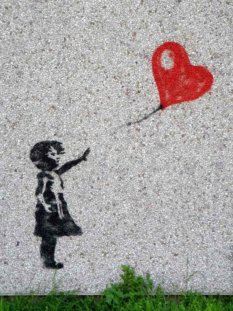 Dievča s červeným balónom od Banksyho