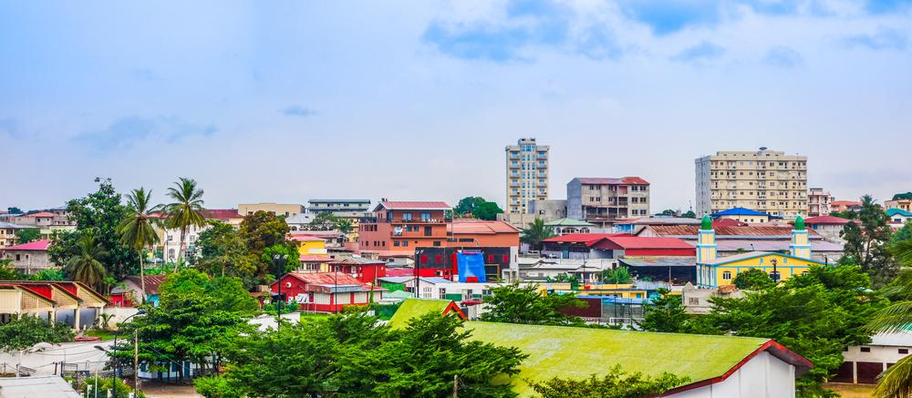 Pohľad na najväčšie mesto Bata v Rovníkovej Guinei