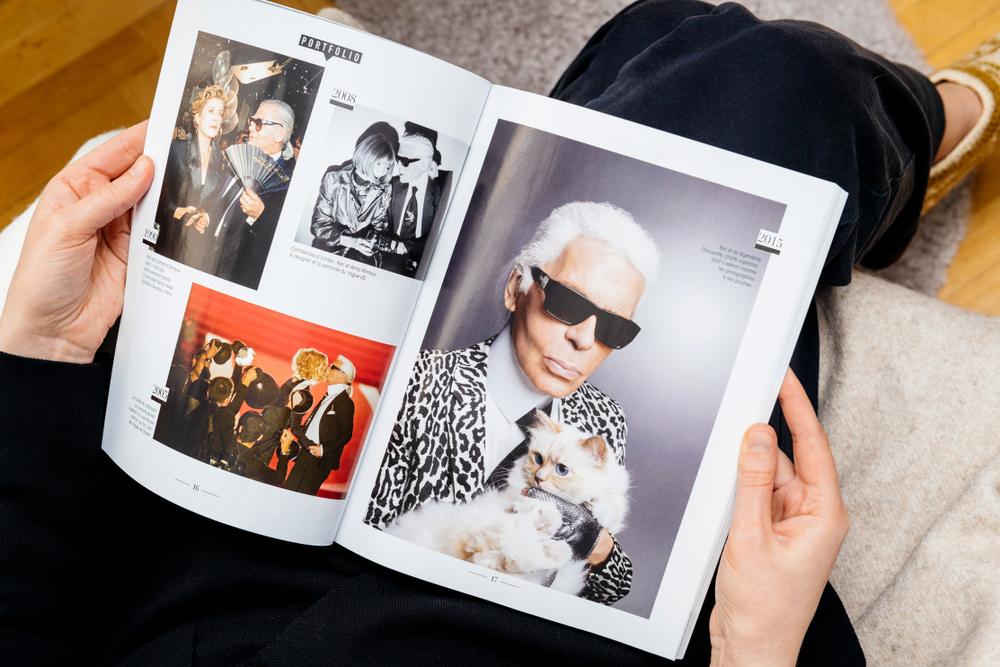 Karl Lagerfeld a mačky